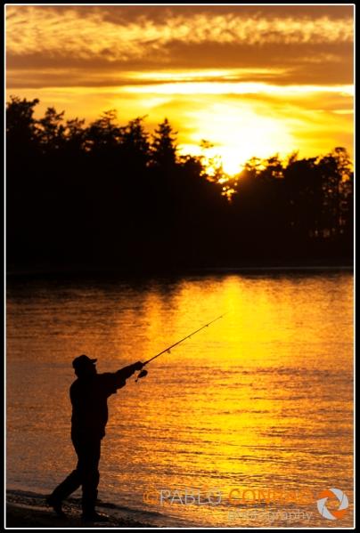 A fisherman at Deception Pass on Whidbey Island in Washington. Photo © Paul Conrad/Pablo Conrad Photography