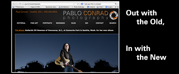 © Paul Conrad/ Pablo Conrad Photography - Screenshot of my new website front